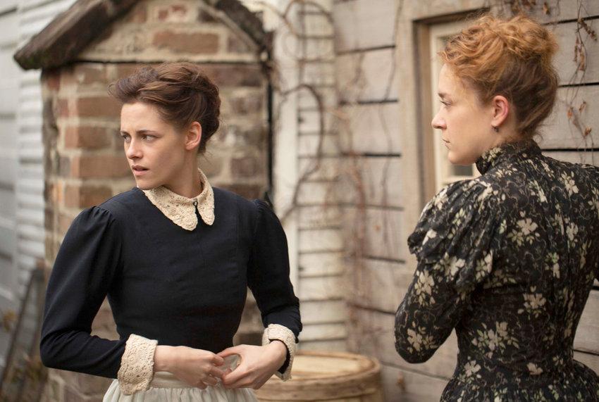 """MURDER MYSTERY — Kristen Stewart and Chloë Sevigny in """"Lizzie"""""""