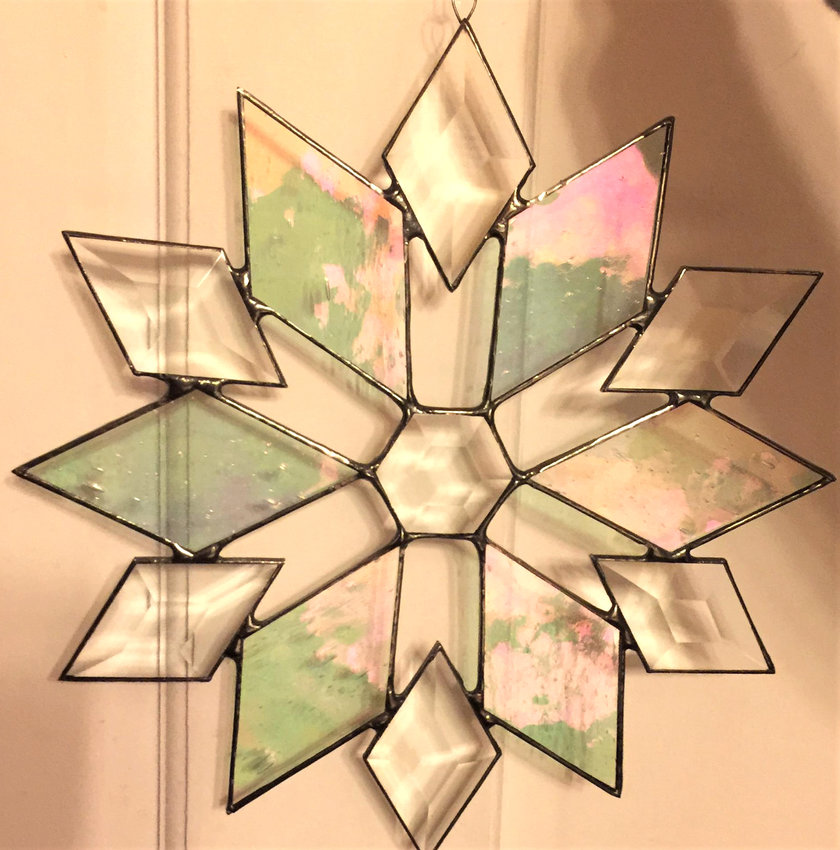 SNOW FLAKE — A Beginning Stained Glass Class will be held Saturday, Dec. 1, at View.