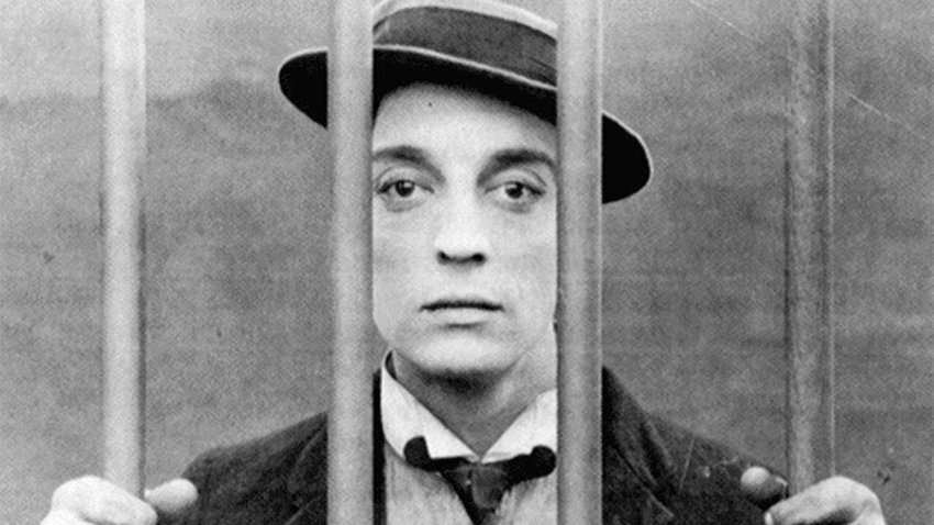 """A LOOK BACK — Comedian Buster Keaton in his 1922 film """"Cops."""""""