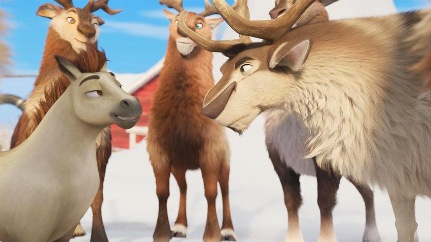 "Reindeer games — A scene from ""Elliot the Littlest Reindeer."""