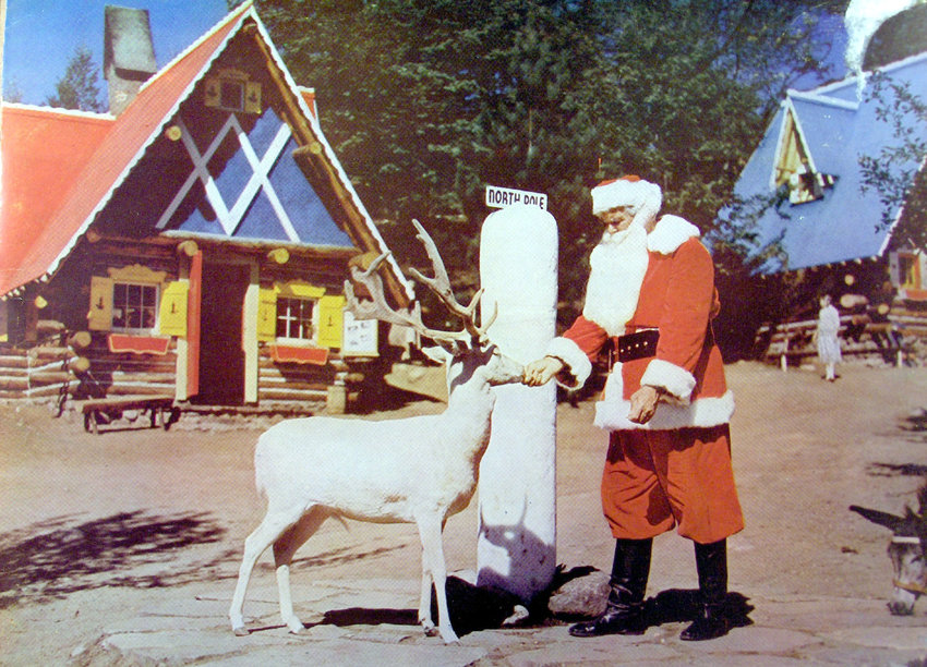 auspicious start — Santa Claus in North Pole, NY in the early 1950s. The theme park was the first Christmas-themed park in the U.S.