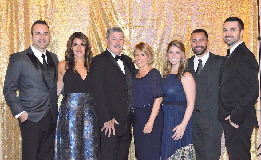 HOSPITAL HELP — Members of the annual Gala's presenting sponsor, Nunn's Home Medical Equipment, pose for a photo at the 2018 event. From left: Shawn and Erin Weiman, Jim and Sheila Murphy, Megan and Ryan Popovich and Patrick Murphy.