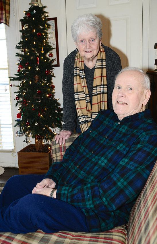 HOME FOR THE HOLIDAYS — Jim Pekarski and his wife Maureen are happy to be able to celebrate at home after Jim's difficult recovery from heart surgery, thanks to the care and therapy he received at Rome Memorial Hospital's short-term rehab unit.