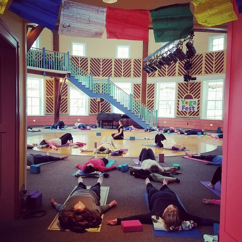 RELAXING — Photo from a previous Yoga Fest held at Hamilton College.