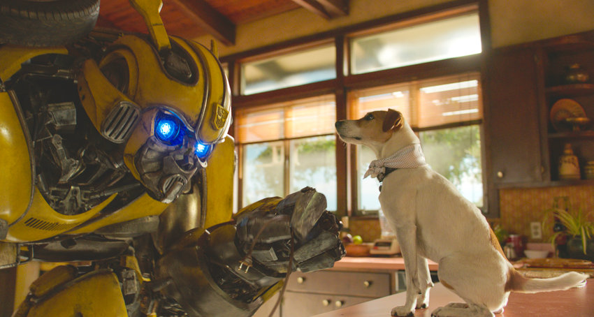 "BUMBLEBEE — This image released by Paramount Pictures shows Bumblebee in a scene from ""Bumblebee."""
