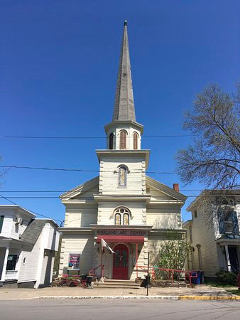 ARTS IN THE VILLAGE — This is the location of Kirkland Art Center, 9 1/2 E. Park Row, Clinton, which was a former Methodist Church built in 1840.