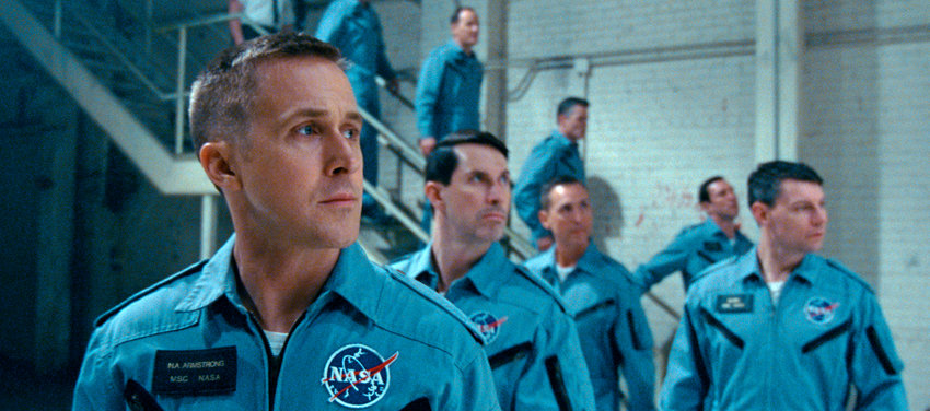 """HISTORIC FIGURE — Ryan Gosling as Neil Armstrong in a scene from """"First Man."""""""