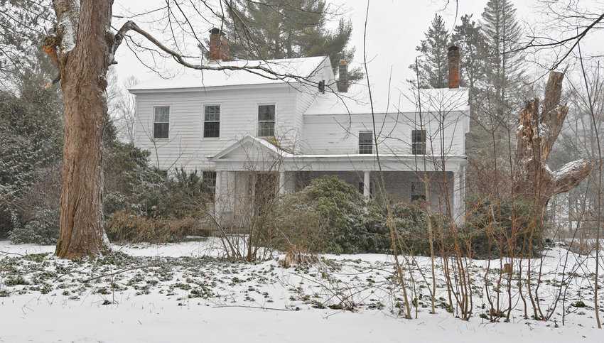HISTORIC HOME — Built around 1830 by Milton Brayton and designated as a landmark home by the Town of Western Historical Society, this property at 9102 Main St. in Westernville is facing an impending foreclosure sale.