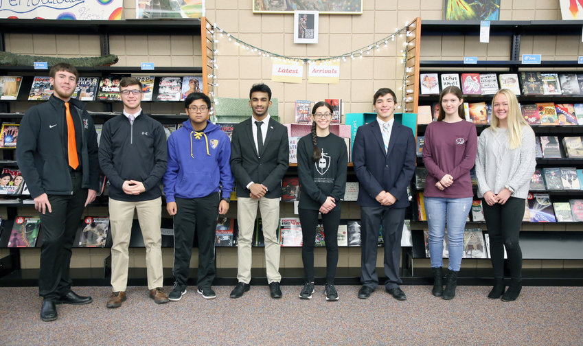 ACADEMIC EXCELLENCE AWARDS — Rome Free Academy students who were awarded New York State Scholarships for Academic Excellence, from left: Jacob Talbot, Preston Mecca, Anthony Acosta, John George, Isabella Rivera, Tejas Desai, Kelly Boyer, Lydia Atwell.