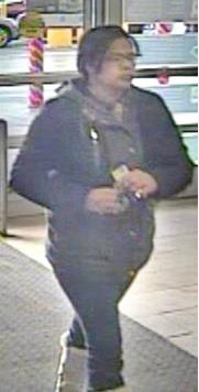 RECOGNIZE HER? — This dark-skinned woman with black hair and eyeglasses is wanted for questioning related to a larceny complaint at Walmart on Rome-Taberg Road from Christmas Eve. If you recognize her you are asked to contact Sheriff's Inv. Justin Copperwheat at 315-765-2767. All calls will be kept confidential.