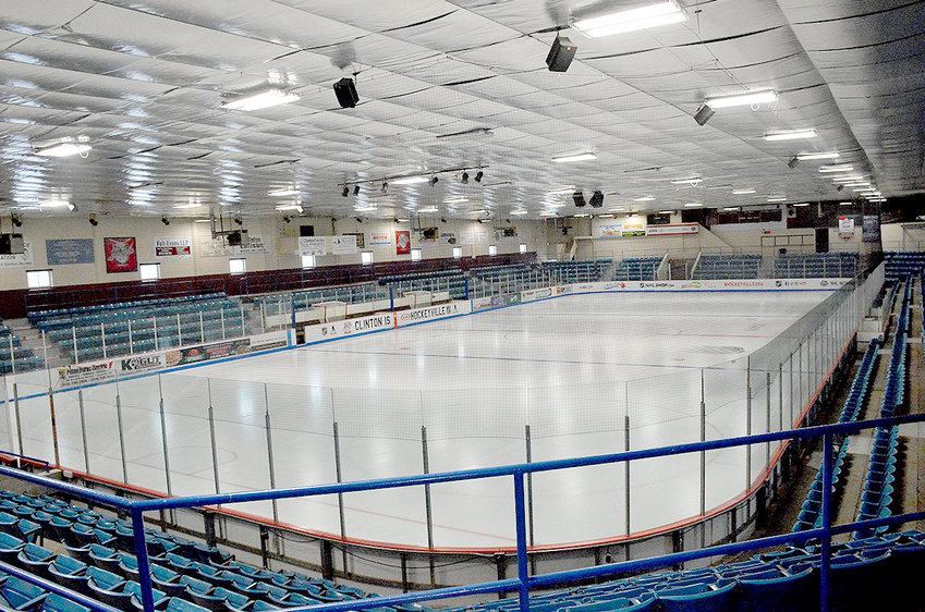 CLINTON ARENA — 2018 Kraft Hockeyville needs a facelift and the Local Organizing Committee & Arena Improvement Fund members addressed the Clinton Chamber of Commerce on March 6 with a presentation detailing what is needed. New modern locker rooms, rest rooms and a new roof are main priorities. Members of the committee said renovations and repairs will cost nearly $4 million.