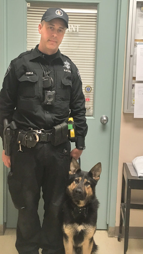 NEW K-9 — Enzo, a German Shepherd, is the newest K-9 officer to join the Oneida County Sheriff's Office.