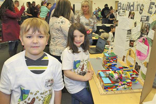 BUILDING ROBOTS — Here are two Westmoreland Central School students who competed in the FIRST LEGO League Jr. Expo, for ages 6-10, at SUNY Polytechnic Institute in Marcy on March 16.