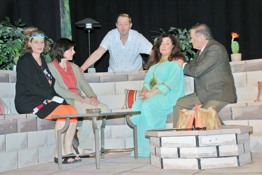 """ON STAGE THURSDAY — Richard K. Stoodley, Linda LaPorte, Valerie Abel, Eileen Tiller Clanton and Tim Huey will portray the members of a family haunted by a tragedy that they are unable to overcome in Rome Community Theater's upcoming production """"Other Desert Cities.""""  The curtain will rise at 7:30 p.m. for shows Thursday-Saturday, and at 2:30 p.m. on Sunday. For information, call 315-337-5920."""