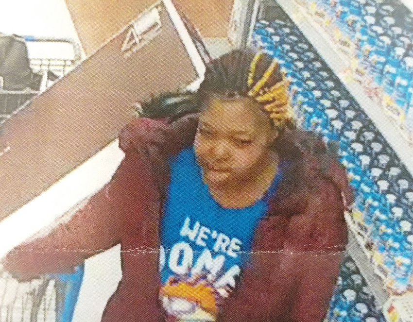 RECOGNIZE HER? —This woman is wanted for stealing more than $1,000 worth of merchandise from Walmart on Rome-Taberg Road on Saturday, according to state police. Anyone who recognizes her is asked to call state police at 315-366-6000. All calls will be kept confidential.