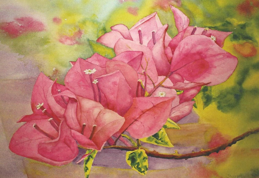 """Flowers, Forests and Small Works."" — The library will host an art show opening from 6-8 p.m. Thursday, May 9."