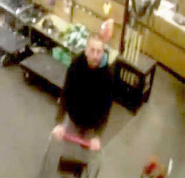 DO YOU RECOGNIZE THIS MAN? — This white male is wanted for the theft of a $160 hammer drill from Runnings on Rome-Taberg Road on May 5. If you recognized him or have information about the theft, you are asked to call state police at 315-366-6000.