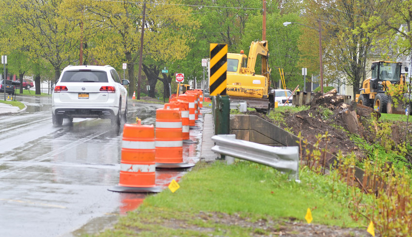 PREP WORK — Repairs to the Utica Street Bridge in Oriskany are in the preliminary stages, according to local officials who are partnering on the bridge project.  Traffic in the area will be detoured to Route 69 starting next month.