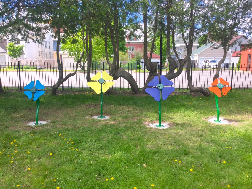 musical flowers — These flowers each come with an attached mallet that when used on the peddles creates various musical notes.