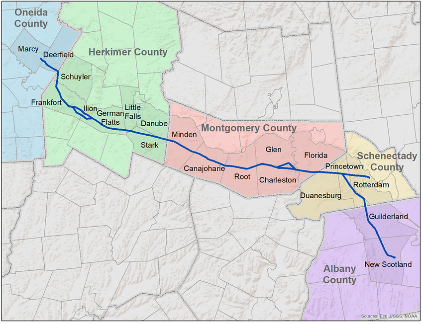 POWER PROJECT —The New York Power Authority's trustees on Tuesday approved funding for the agency's share of a project to upgrade long-distance power transmission lines in the middle of the state to better link upstate generation facilities with downstate. It is to use existing rights of way.