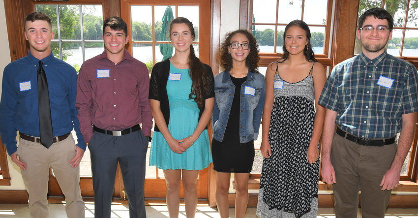 DYETT FUND AWARDS — Among Rome Free Academy seniors who received Dyett Fund grants, from left: Preston Mecca, Michael Bostwick, McKenzie Tikalsky, Alize Platt, Kaityln Salce and Joshua Pelerossi.