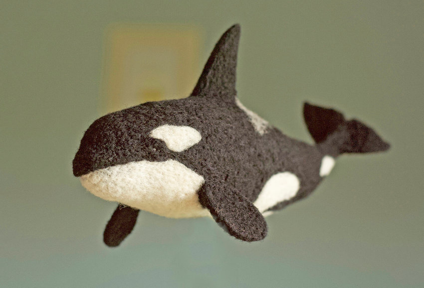 Orca Whale — Intermediate Needle Felting, July 13: 9 a.m. to 4 p.m., cost is $85 per person.