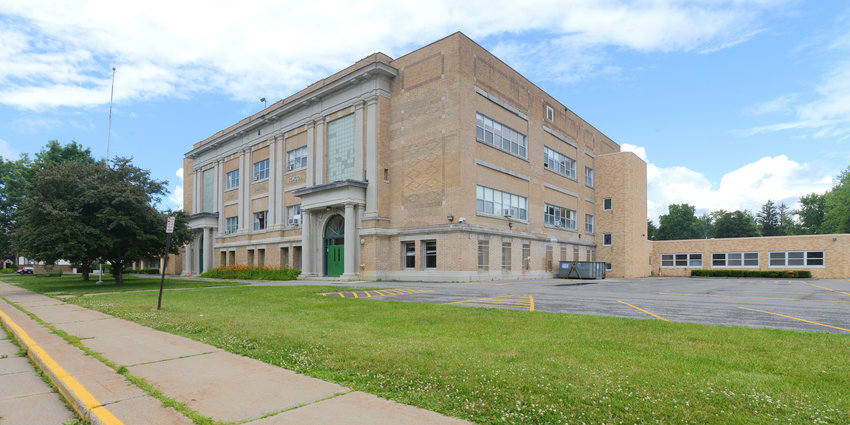 UP FOR SALE — The vacant former Fort Stanwix school property, 110 W. Linden St., has been appraised at $528,600 and soon will be listed for sale, according to a Rome district official.