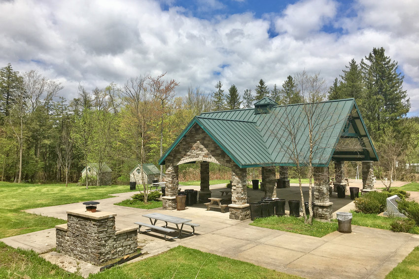NEW PAVILION — A covered picnic pavilion is now located in Utica's Roscoe Conkling Park, at the south side of the city, near the entrance of the South Woods Switchback.