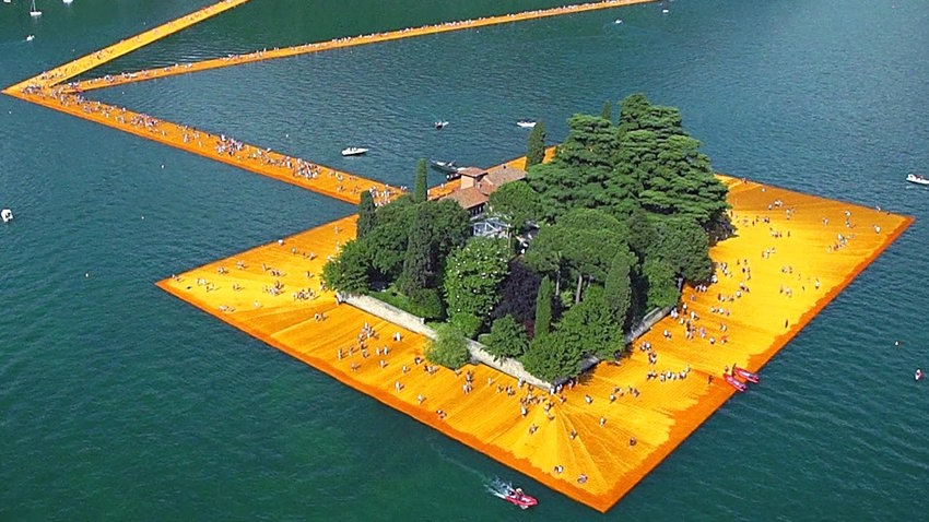 """The Floating Piers — Scene from """"Walking on Water"""""""