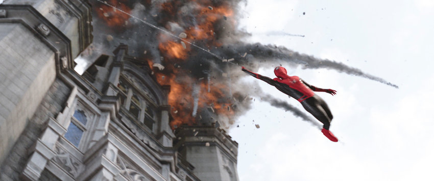 "FAR FROM HOME — This image released by Sony Pictures shows a scene from ""Spider-Man: Far From Home."""