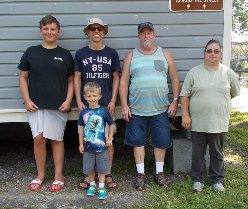 TOP ANGLERS — Winners in the Rome Rotary Club's annual Canalfest Fishing Derby included, front row: Parker Nelson; back row, from left: Anthony Hoffmeister, Niels Van Hoesel, John Carpenter and Heather Ingersoll.