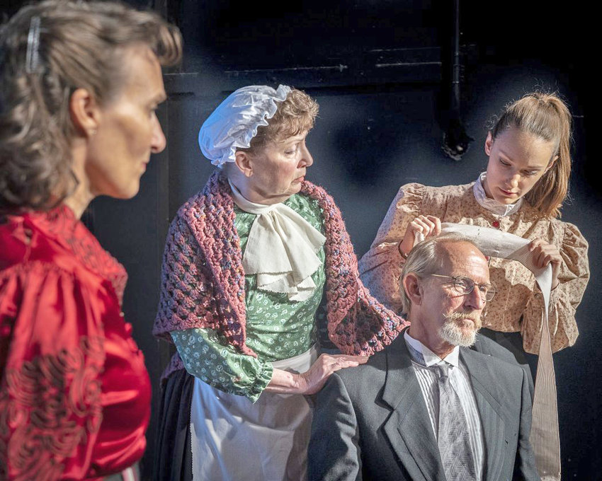 """ON STAGE — The Cast of """"A Doll's House, Part 2,"""" from left, Dee Pelletier, Josie Good, Christopher Leifheit,  and Laura Menzie."""