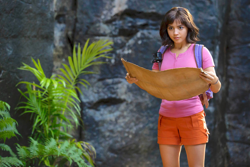 "ON AN ADVENTURE — Isabela Moner stars as ""Dora"" in Paramount Pictures' ""Dora and the Lost City of Gold."""