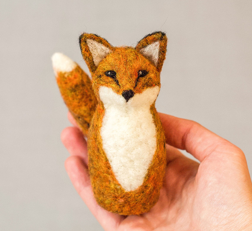 WORKSHOP — Attendees will learn how to make their own needle felted red fox from start to finish, completely out of wool.