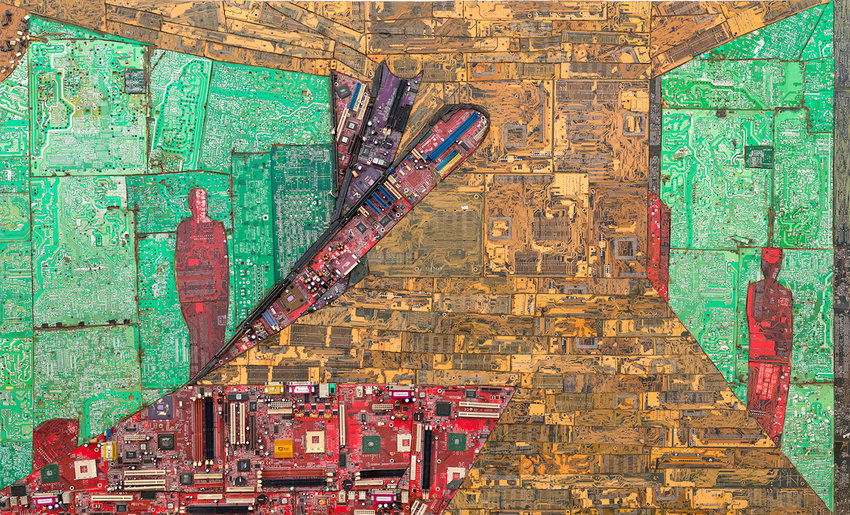 TIGHTROPE — Art piece by Elias Sime