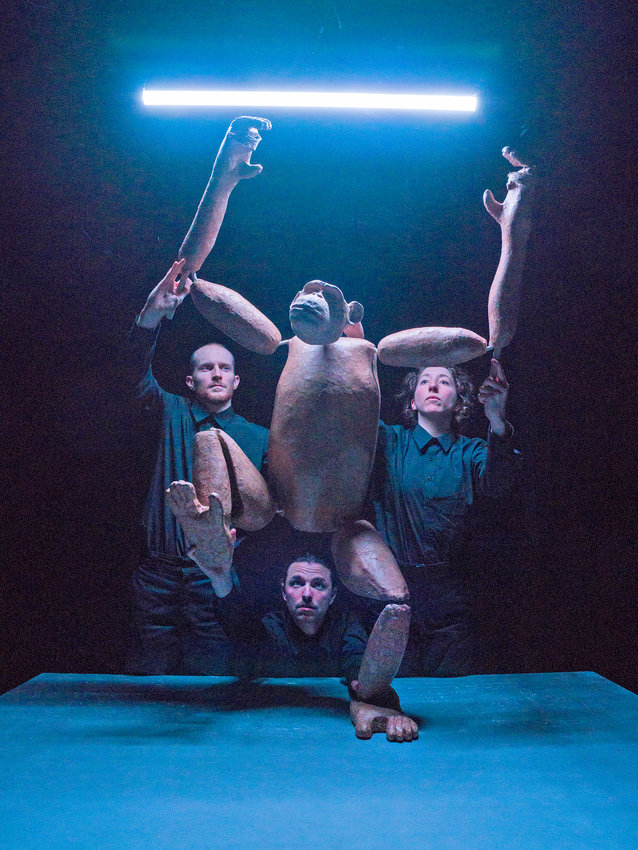 """""""Chimpanzee"""" — Seen with puppeteers Rowan Magee, Andy Manjuck, and Emma Wiseman"""