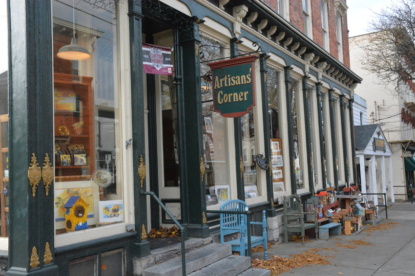 SHOPPER'S DELIGHT — At the corner of College and Williams streets, Artisans' Corner offers unique handcrafted artwork by local artists. The shop is coming up on it's 10-year anniversary in November.