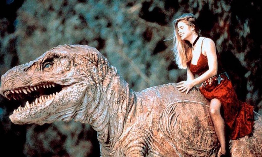 """LOVE STORY — Denise Richards stars as Tammy in the 1994 B-movie """"Tammy and the T-Rex."""""""