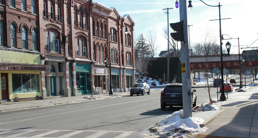 DOWNTOWN WORK — A number of buildings along Peterboro Street and others in Canastota will be seeing facade work in the coming days as the village continues to revitalize its downtown area.