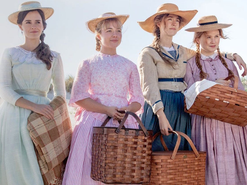 """OSCAR NOD — Emma Watson, Florence Pugh, Saoirse Ronan, and Eliza Scanlen star as the March sisters in Gerwig's vision of """"Little Women."""" For her performance as the Jo, Ronan was nominated for """"Best Actress"""" at the 2020 Academy Awards."""