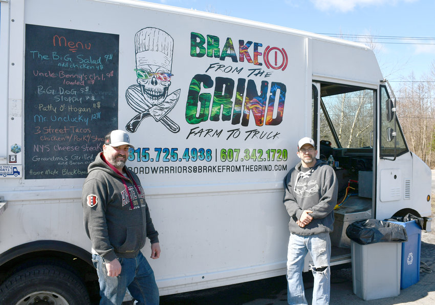 FARM TO TRUCK —Steve Malecki and Darryl Hogan are partners in a farm to truck canteen truck that drives their vision of good quality food at a good price that supports local business the way they do.