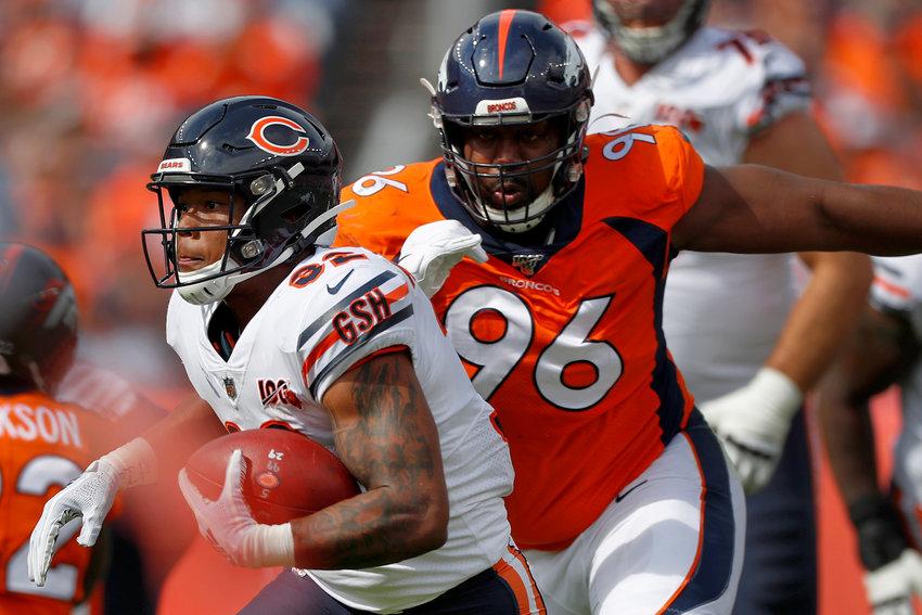 Denver Broncos defensive tackle Shelby Harris (96)