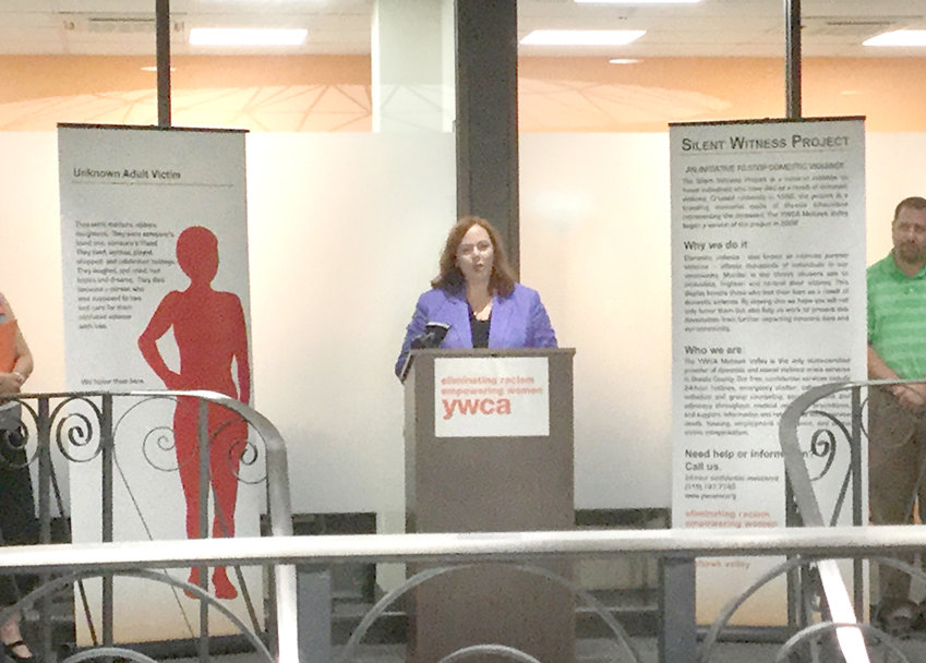 ADDING NEW FEATURES — Dianne Stancato, CEO of the YWCA of the Mohawk Valley, shown in this 2019 file photo, has announces that the YWCA has enhanced the agency's efforts to support domestic violence victims with text and chat services. The new features, officials say, will allow for victims to contact help while not tipping off their abusers.