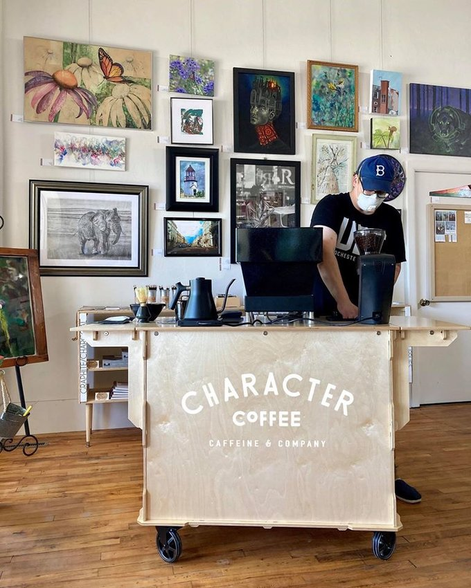 POP UP COFFEE — The Copper Easel, 216 W. Dominick St., and Character Coffee, of Utica, will hold a pop-up coffee cart and art event at the Copper Easel on Saturday, July 11, from 9 a.m. to noon. The Copper Easel is a local artisan gallery and art supply store located directly next to the historic Capitol Theatre.