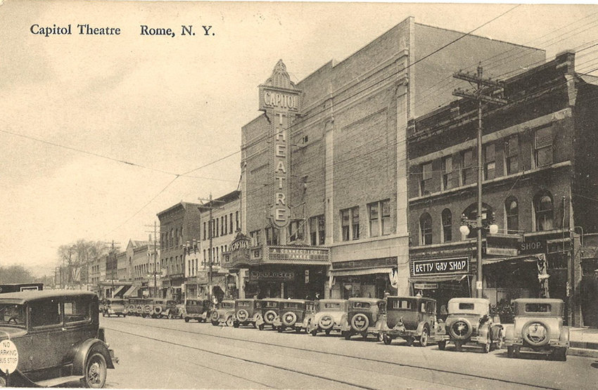 ORIGINAL MARQUEE — Pictured is the Capitol Theatre's exterior view from a 1931 postcard.