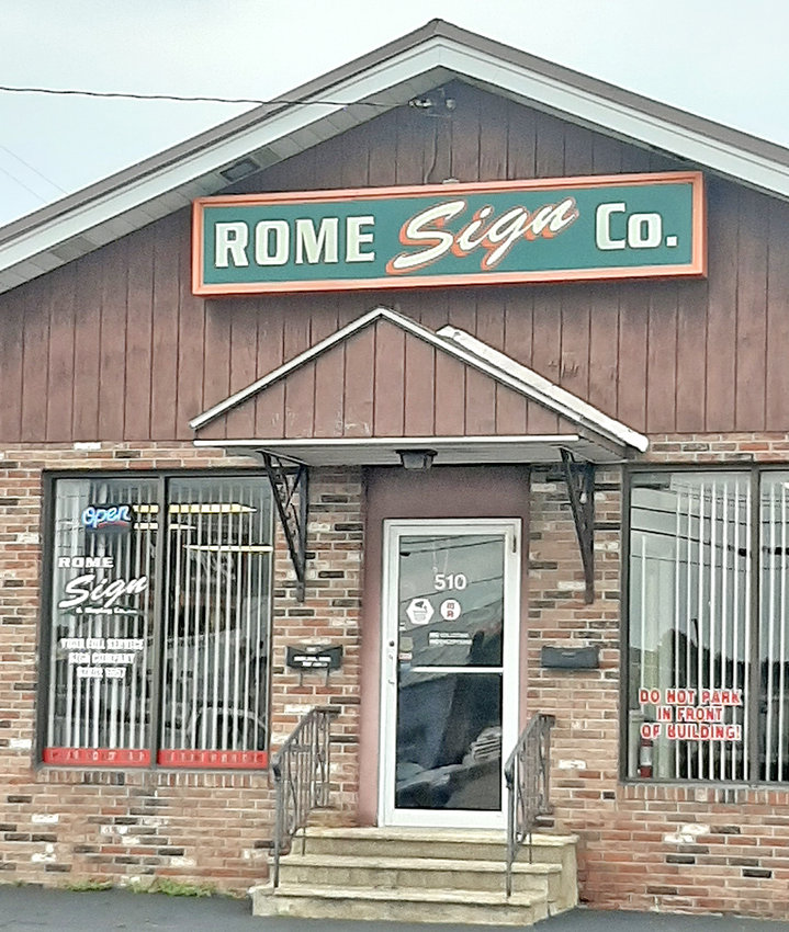 CHAMBER HONOR —The Rome Area Chamber of Commerce has named Rome Sign & Display Co., Inc. as its Member of the Week. The company has been serving the signage needs of the community since 1957.