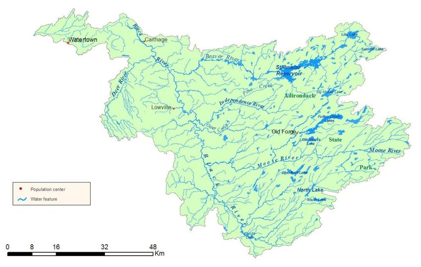 Map of Black River Watershed