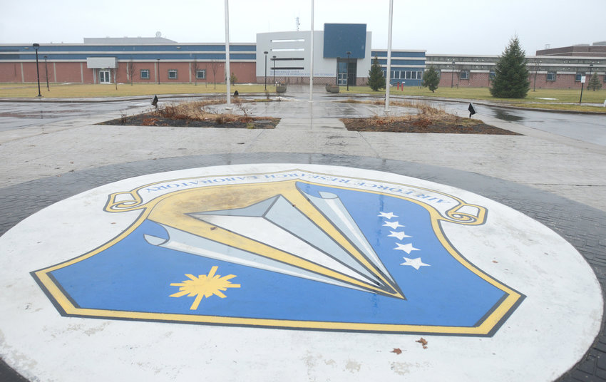 Main entrance of Rome Lab building at Griffiss.   (Sentinel photo by John Clifford)