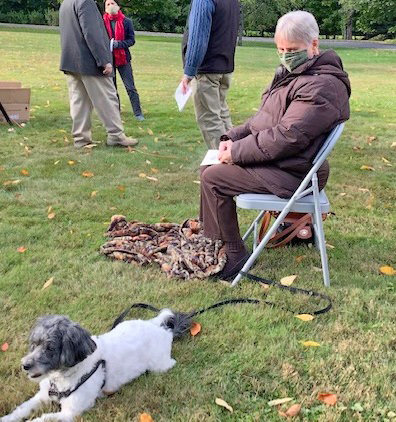 ANIMAL BLESSING — Here is a recent participant in the St. James Episcopal Church Blessing of the Animals service.