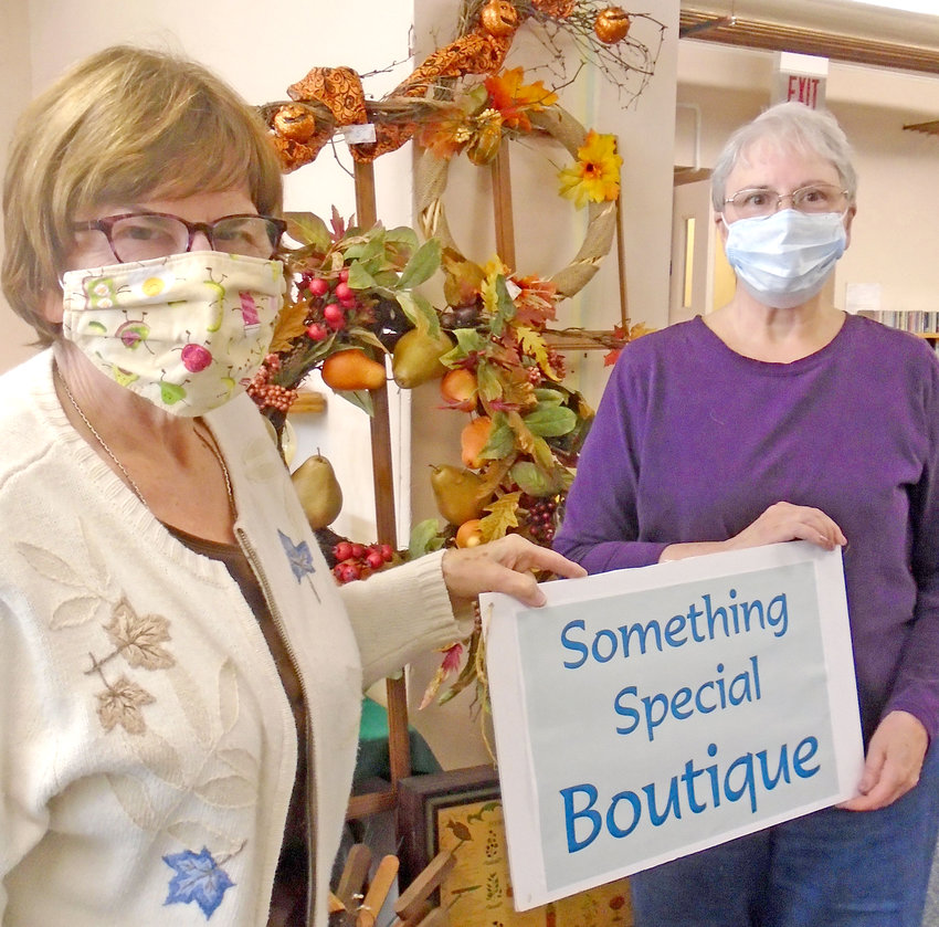 GETTING READY — Volunteers work to set-up the Something Special Boutique for the First Presbyterian Church's upcoming Fall County Fair.